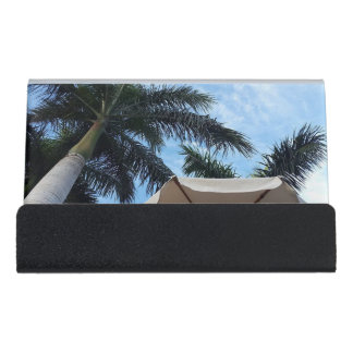 Tenerife Palm Tree Desk Business Card Holder