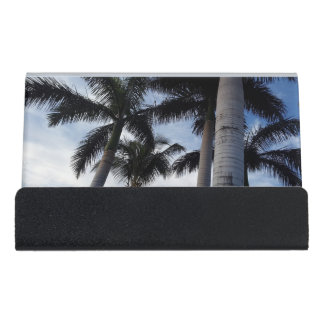 Tenerife Palm Trees Desk Business Card Holder