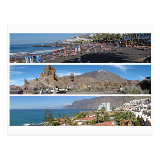 Tenerife panorama postcard