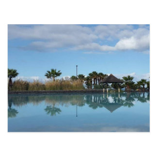 Tenerife Poolside View Postcard