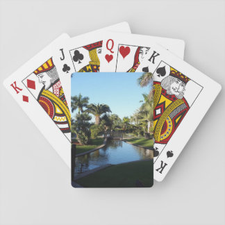 Tenerife Stream with Palm Trees Playing Cards