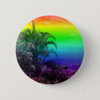 Tenerife/Teneriffa,Rainbow 6 Cm Round Badge
