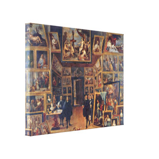 Teniers J David - Gallery of Archduke Leopold Canvas Print