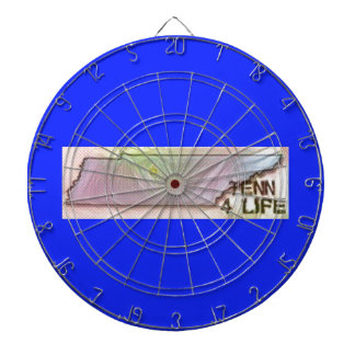 """Tennessee 4 Life"" State Map Pride Design Dartboard"