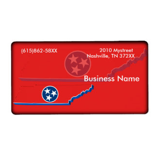 Tennessee Business Label Shipping Label