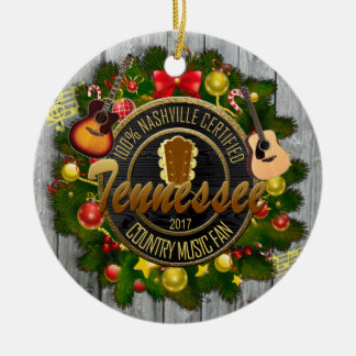 Tennessee Country Music Fan Christmas Ornament