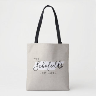 Tennessee Family Monogram State Tote Bag