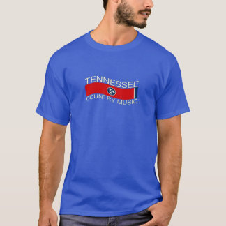 Tennessee Flag Country Music Wave Decor T-Shirt