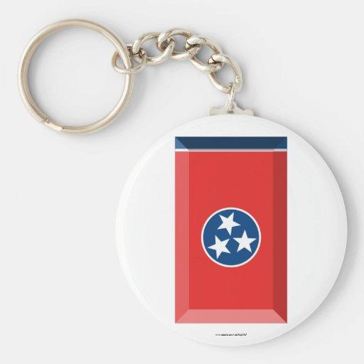 Tennessee Flag Gem Key Chains