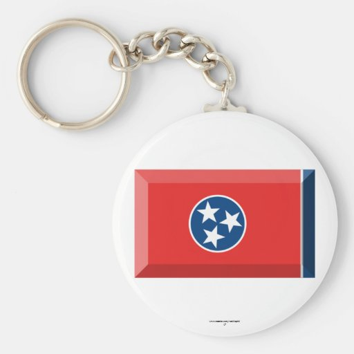 Tennessee Flag Gem Keychain