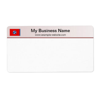 Tennessee Flag Header Shipping Label