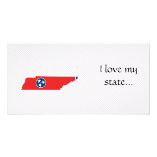 Tennessee Flag Map Photo Card