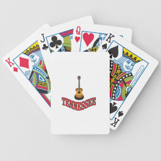 Tennessee Guitar Bicycle Playing Cards