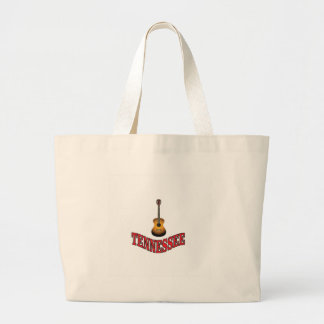 Tennessee Guitar Large Tote Bag