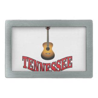 Tennessee Guitar Rectangular Belt Buckles