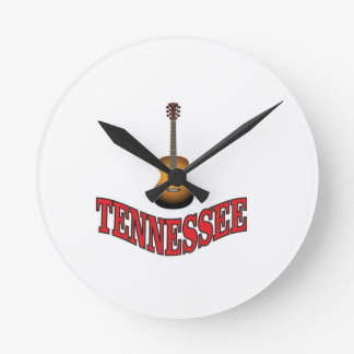 Tennessee Guitar Round Clock