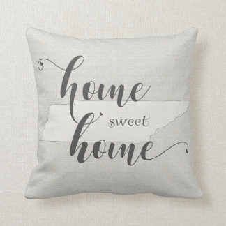 Tennessee - Home Sweet Home burlap-look Cushion
