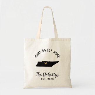 Tennessee Home Sweet Home Family Monogram Tote Bag