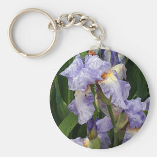 Tennessee Irises Basic Round Button Key Ring