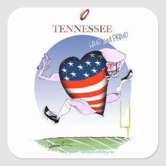 tennessee loud and proud, tony fernandes square sticker