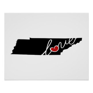 Tennessee Love!  Gifts for TN Lovers Posters