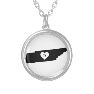 Tennessee Love Silver Plated Necklace