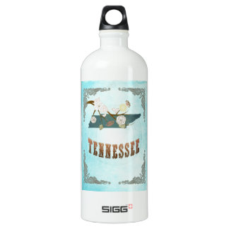 Tennessee Map With Lovely Birds SIGG Traveller 1.0L Water Bottle