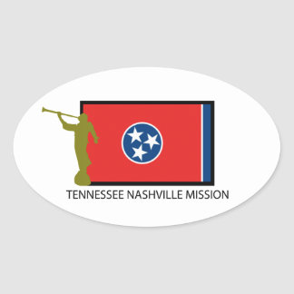 TENNESSEE NASHVILLE MISSION LDS CTR OVAL STICKER