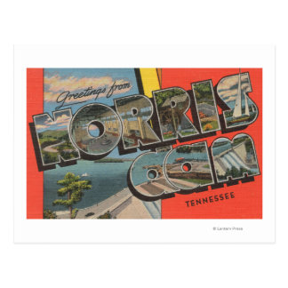 Tennessee - Norris Dam - Large Letter Scenes Postcard