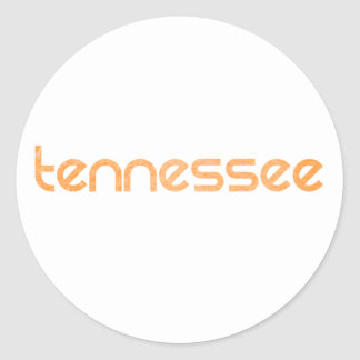 Tennessee Orange Classic Round Sticker