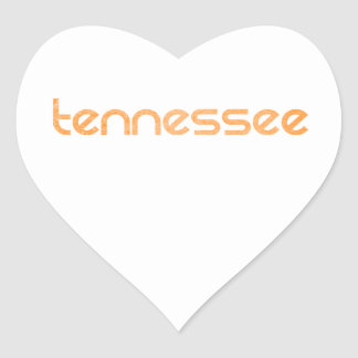 Tennessee Orange Heart Sticker