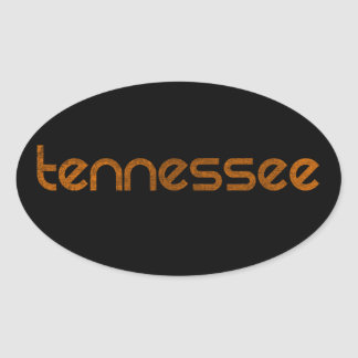 Tennessee Orange Oval Sticker