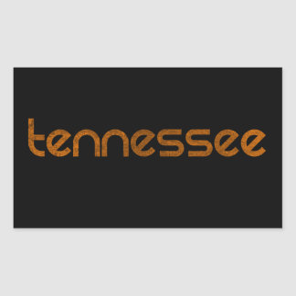 Tennessee Orange Rectangular Sticker