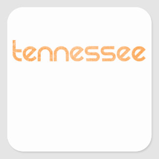Tennessee Orange Square Sticker