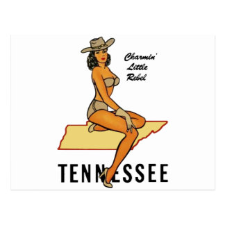 Tennessee pinup postcard