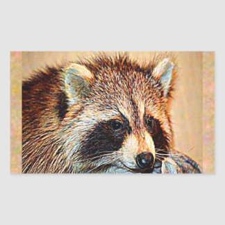 Tennessee Raccoon Rectangular Sticker