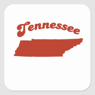 TENNESSEE Red State Square Sticker
