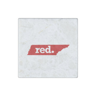 TENNESSEE RED STATE STONE MAGNET