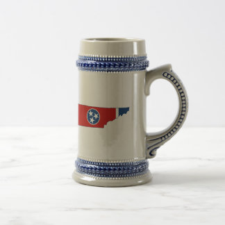Tennessee State Flag and Map Beer Stein