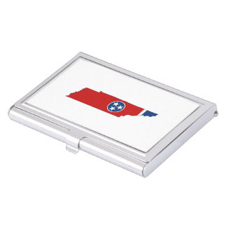 Tennessee State Flag and Map Business Card Holder