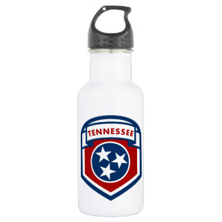 Tennessee State Flag Crest Shield Style 532 Ml Water Bottle