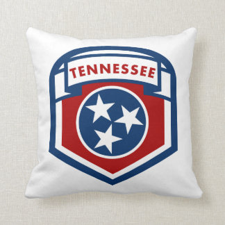 Tennessee State Flag Crest Shield Style Cushion