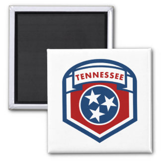 Tennessee State Flag Crest Shield Style Magnet