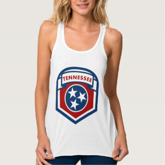 Tennessee State Flag Crest Shield Style Singlet