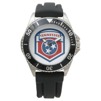 Tennessee State Flag Crest Shield Style Watch