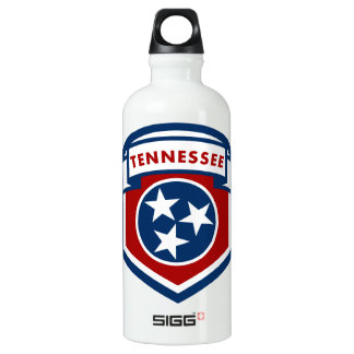 Tennessee State Flag Crest Shield Style Water Bottle