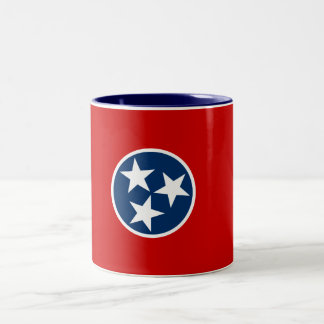Tennessee State Flag Two-Tone Coffee Mug