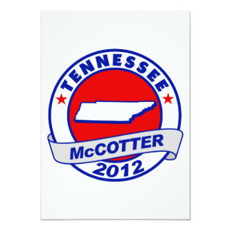 "Tennessee Thad McCotter 5"" X 7"" Invitation Card"