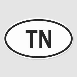 "Tennessee ""TN"" Oval Sticker"