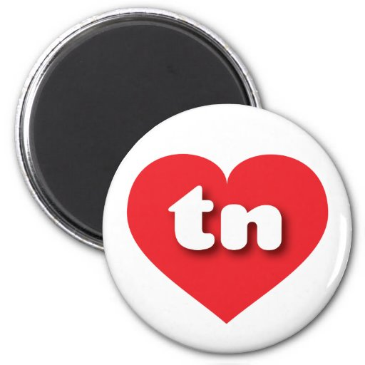 Tennessee tn red heart refrigerator magnet